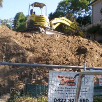 New house site bulk excavation